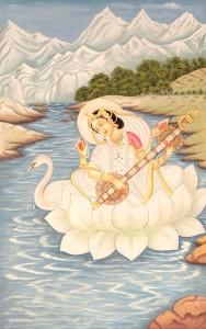 Saraswati on Swan